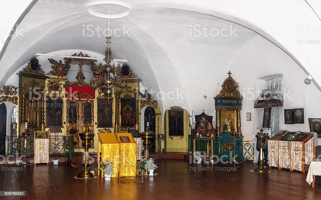 Lower church Temple of the Resurrection in the village  Selco stock photo
