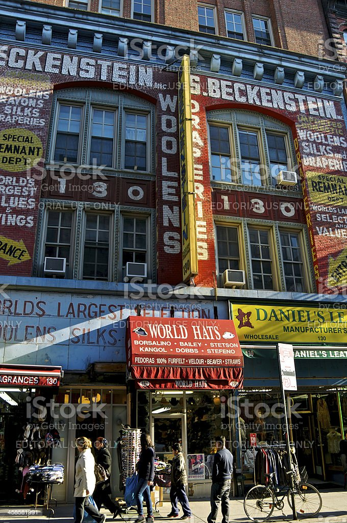 Lower East Side of Manhattan bargain hunters & shops, NYC royalty-free stock photo