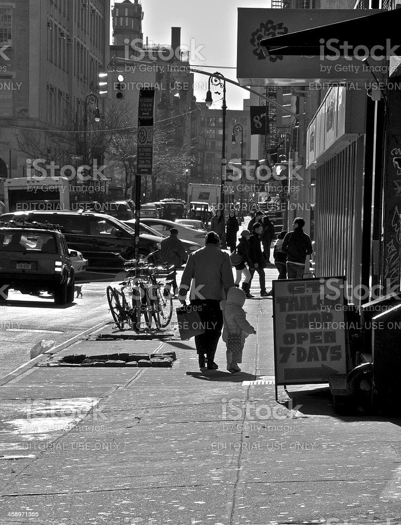 Lower East Side of Manhattan street scene, New York City royalty-free stock photo