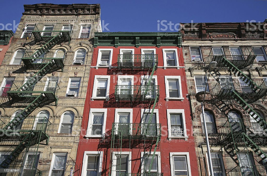 Lower East Side Tenements royalty-free stock photo