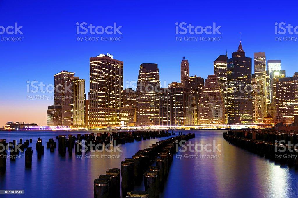 Lower Eastside Manhattan at sunset royalty-free stock photo