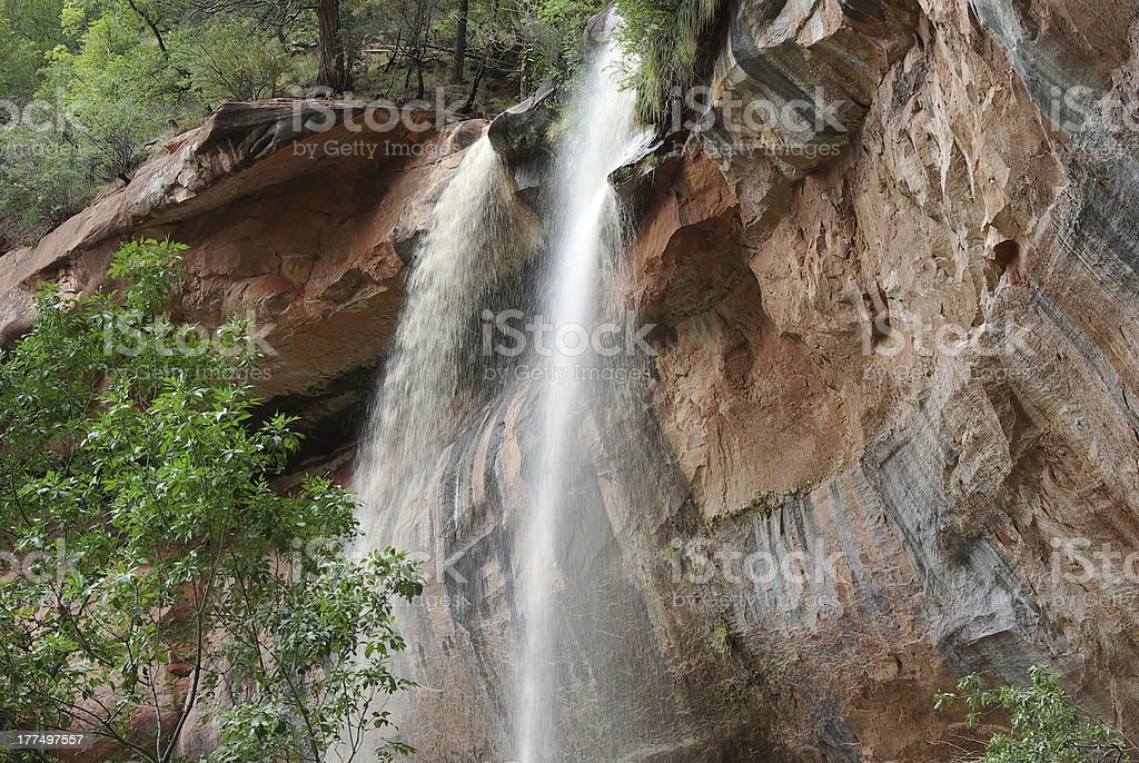 Lower Emerald Falls stock photo