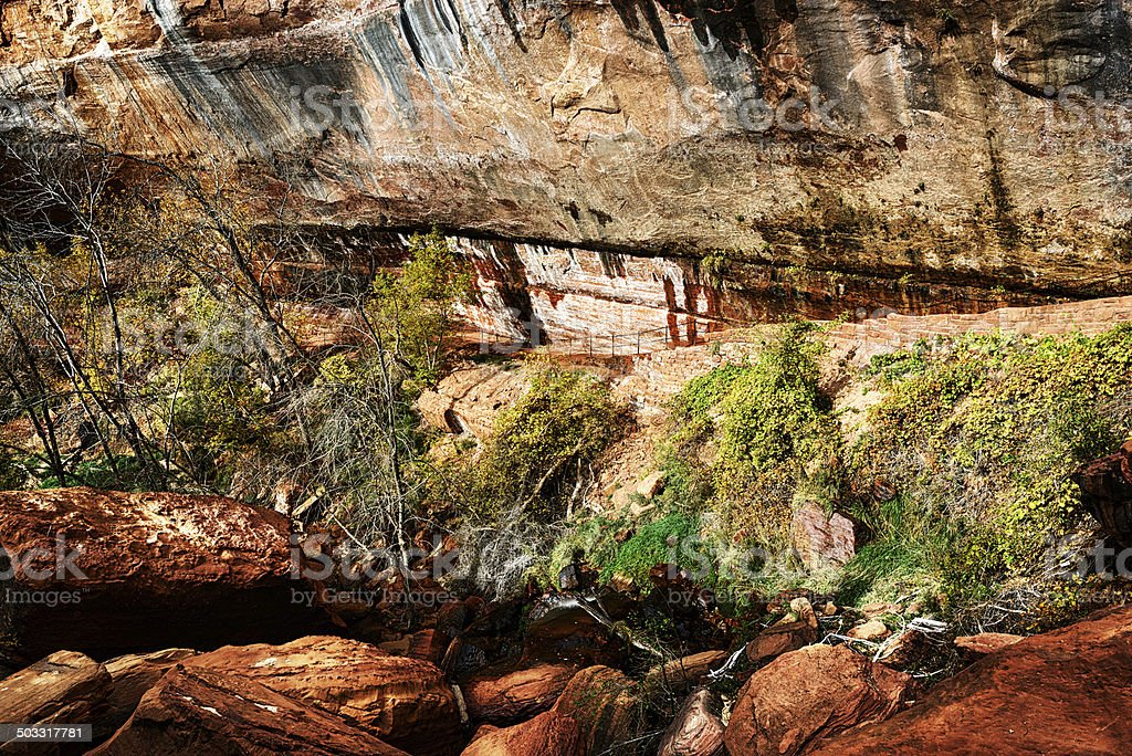 Lower Emerald Pools in Zion National Park, Utah stock photo