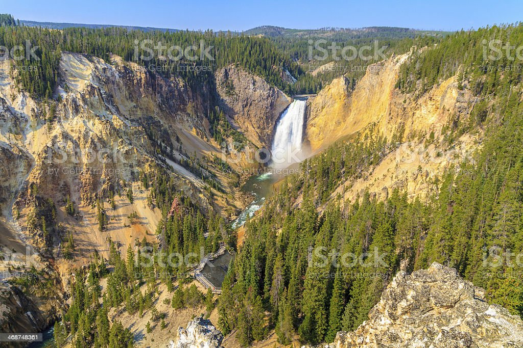 Lower Falls, Grand Canyon of the Yellowstone National Park stock photo