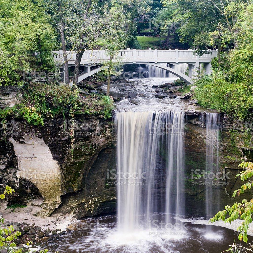 Lower Falls of Minneopa Creek stock photo