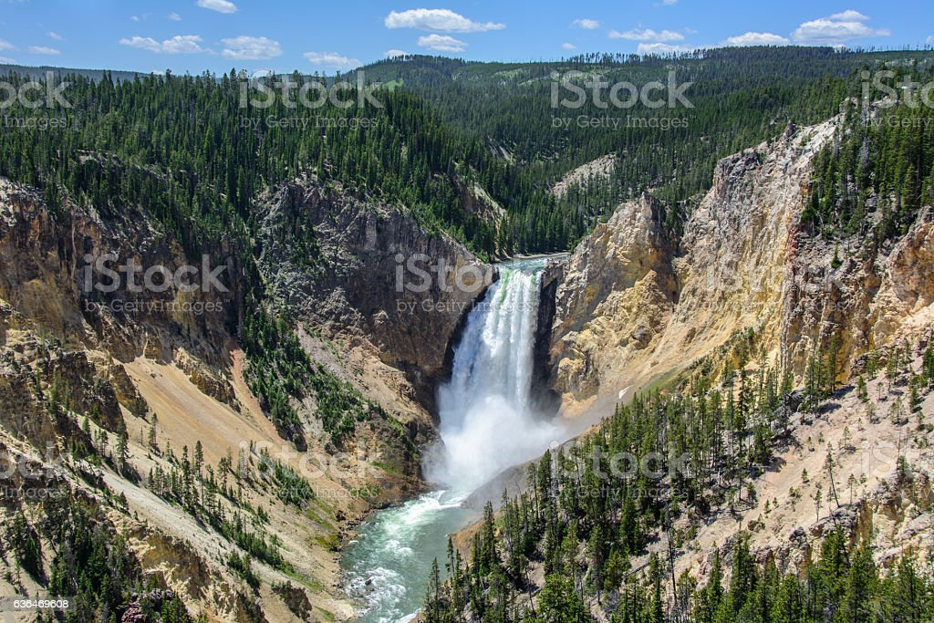 Lower Falls of the Yellowstone in Yellowstone National Park, Wyoming USA stock photo