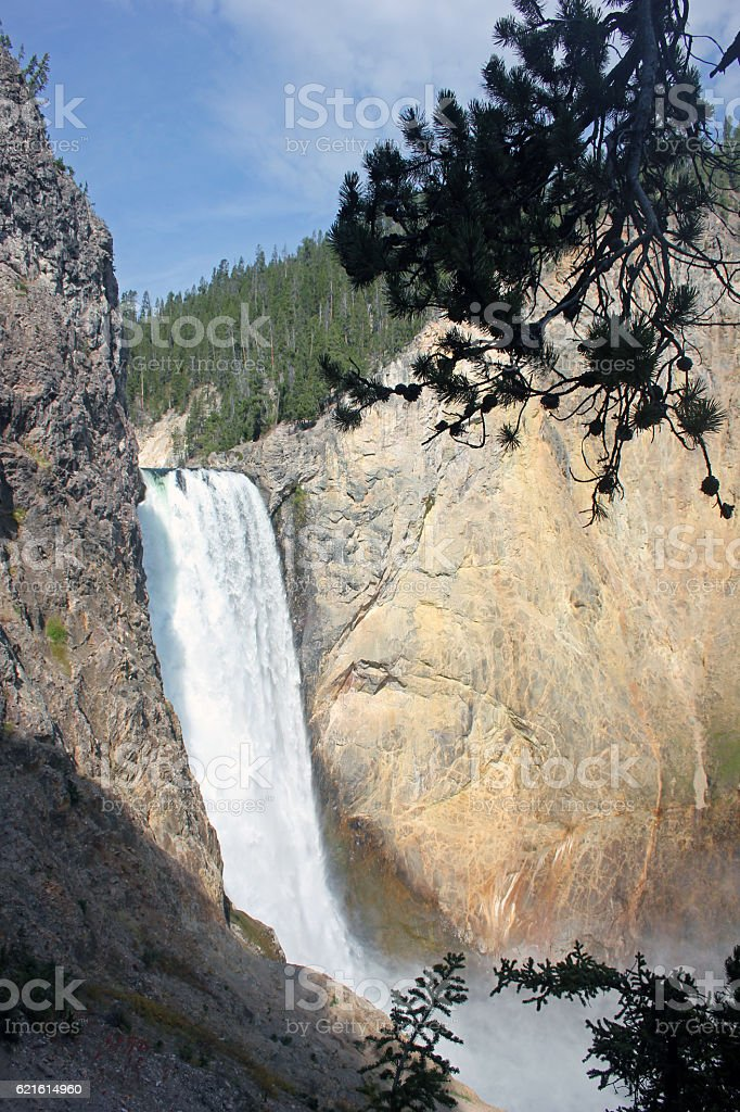 Lower Falls on the Yellowstone River, Wyoming, USA stock photo