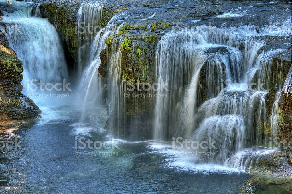 Lower Falls Upper Lewis River royalty-free stock photo