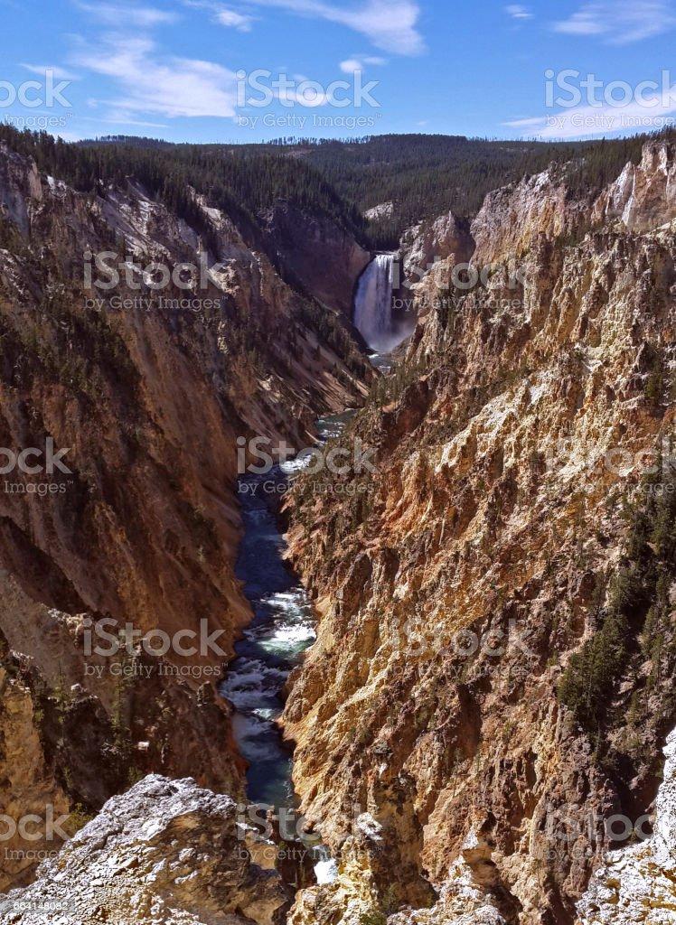 Lower Falls, Yellowstone National Park, USA stock photo