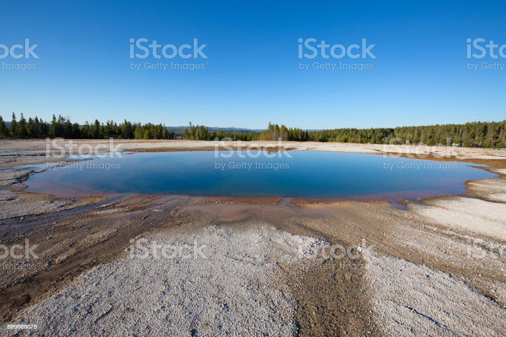 Lower geyser basin stock photo