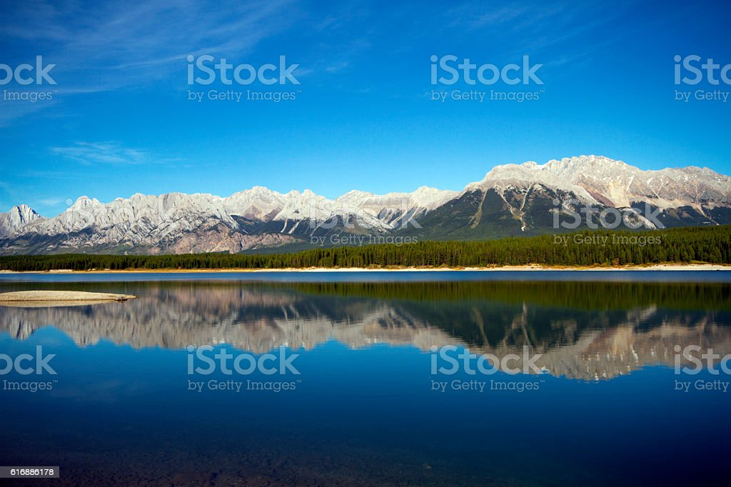 Lower Kananaskis Lake stock photo