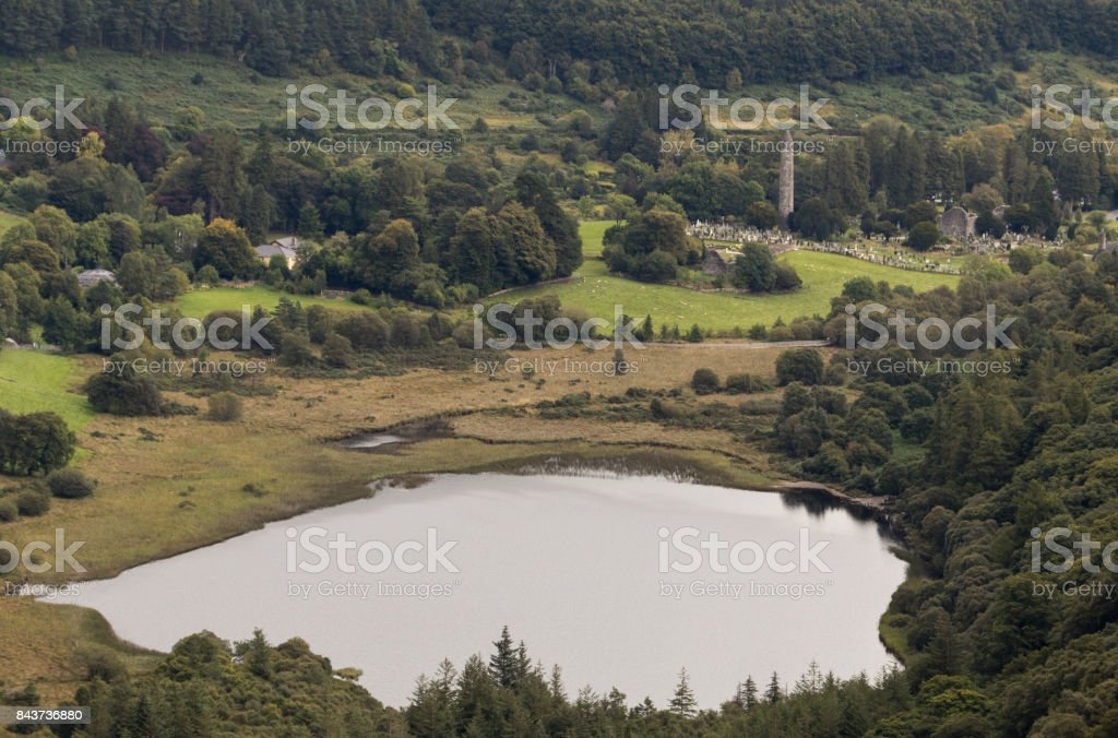Lower Lake, Glendalough stock photo
