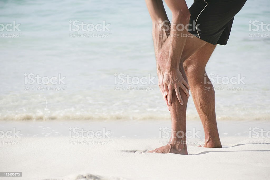 Lower leg pain royalty-free stock photo