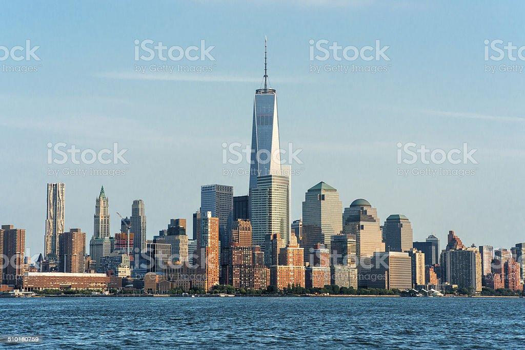 Lower Manhattan (One World Trade Center) 2014 stock photo