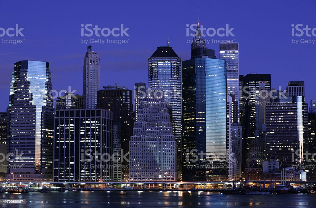 Lower Manhattan at Dawn royalty-free stock photo