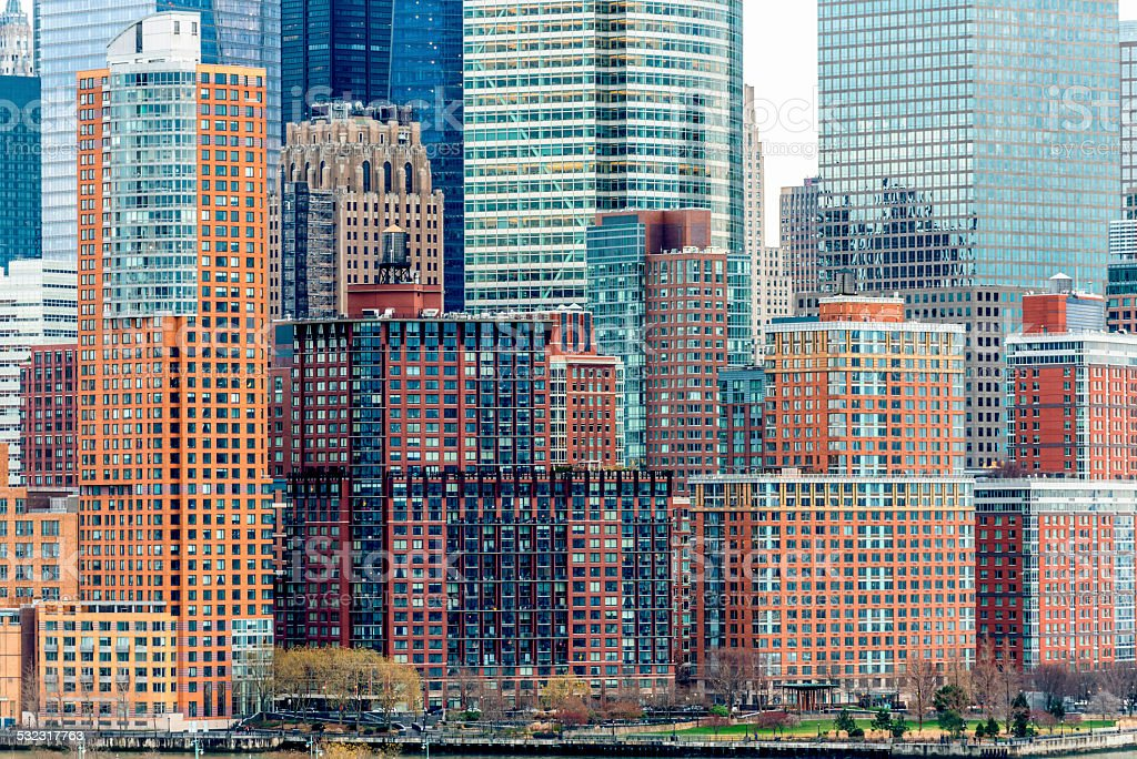 Lower Manhattan buildings , NYC stock photo