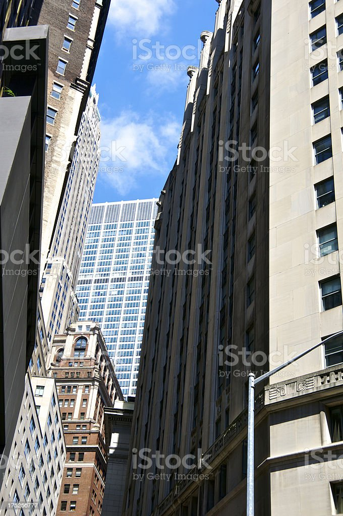 Lower Manhattan Financial District Cityscape, New York City royalty-free stock photo