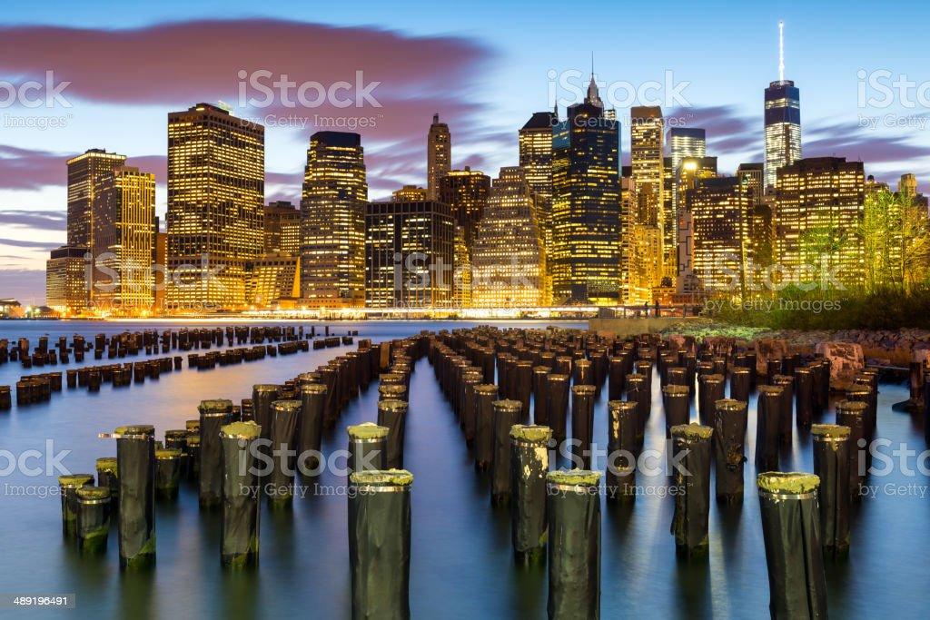 Lower Manhattan Financial District, New York City, USA royalty-free stock photo