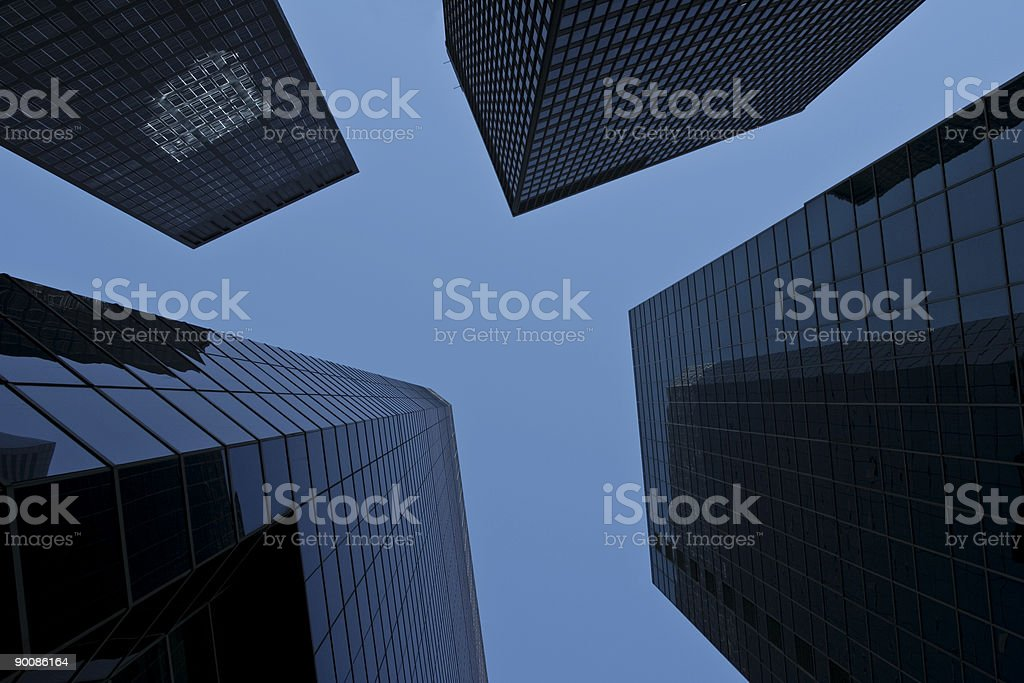 Lower Manhattan Financial District royalty-free stock photo