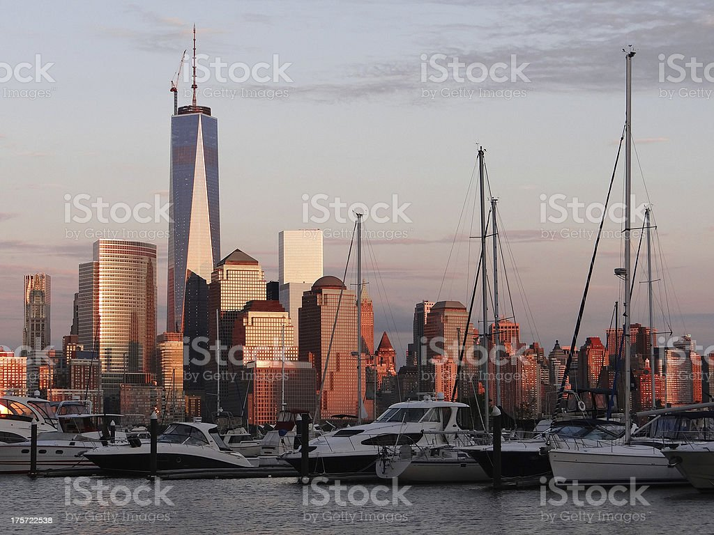 Lower Manhattan from Jersey City royalty-free stock photo