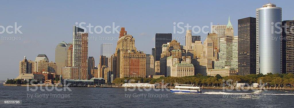 Lower Manhattan New York City royalty-free stock photo