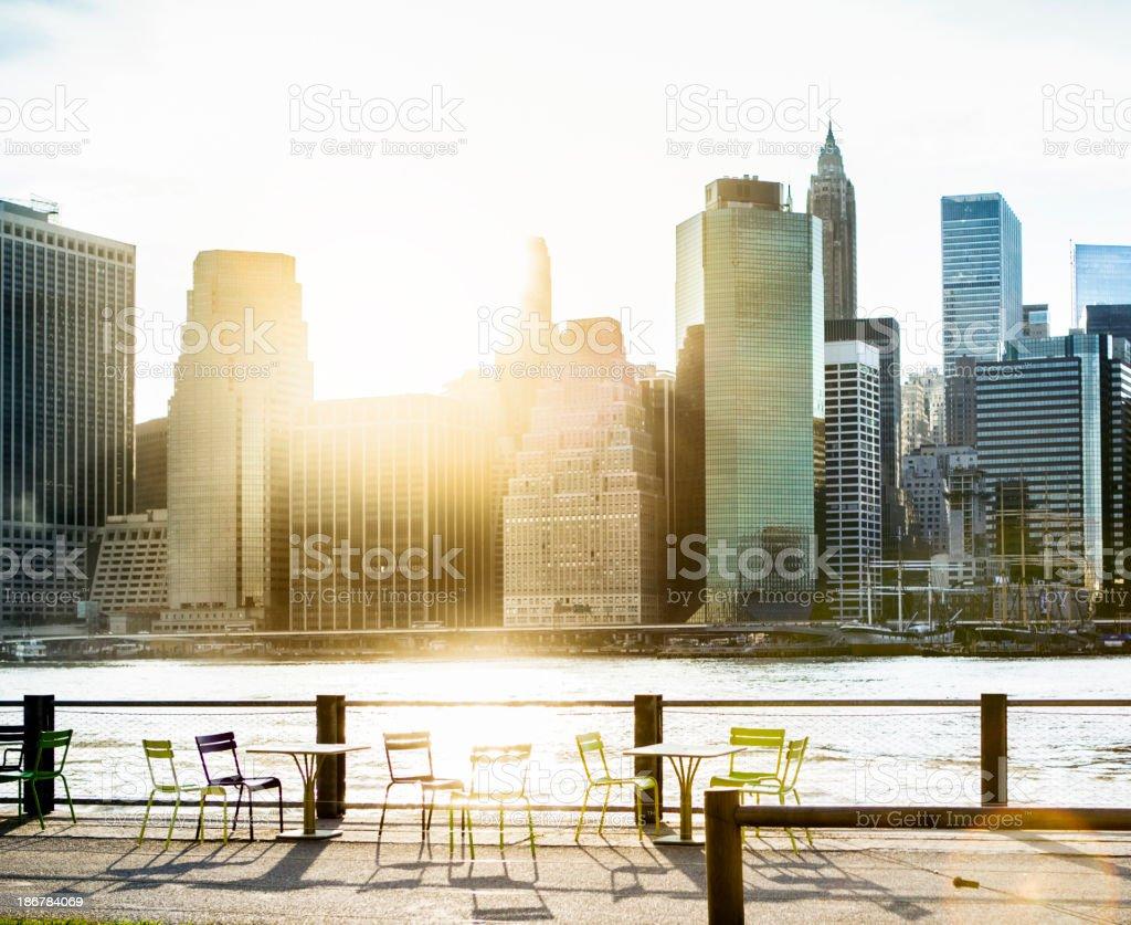 Lower Manhattan NYC Skyline royalty-free stock photo