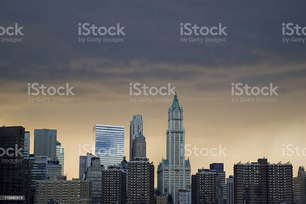 Lower Manhattan royalty-free stock photo