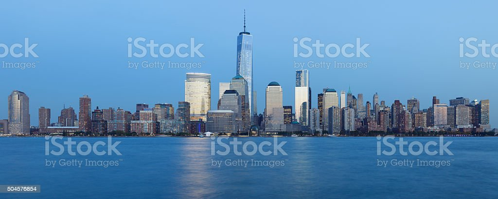 Lower Manhattan Skyline - New York stock photo