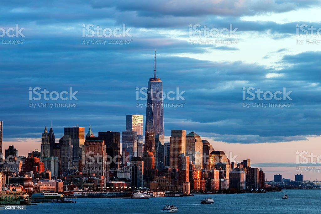 Lower Manhattan Skyline, New York stock photo
