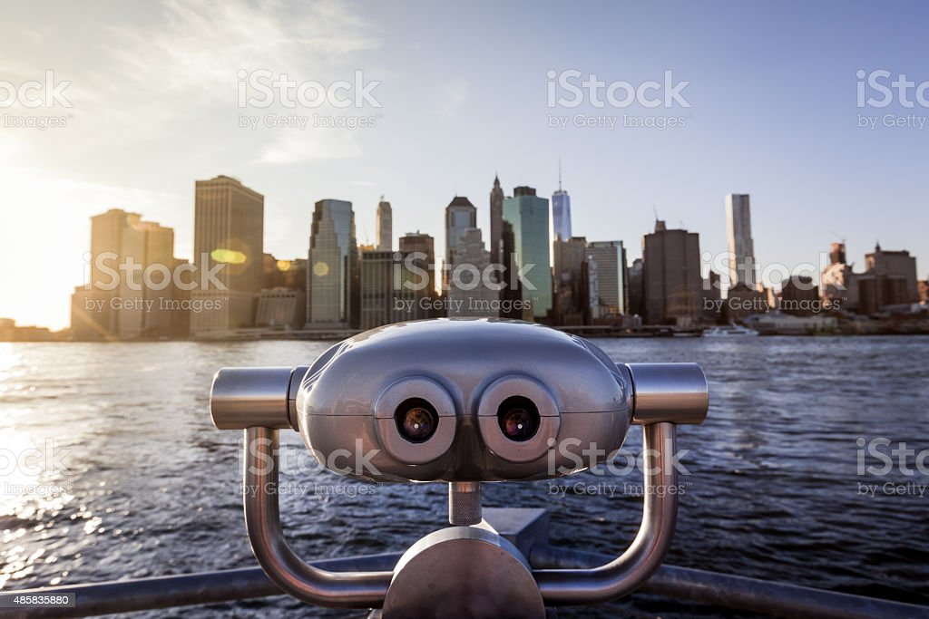 Lower Manhattan Viewfinder stock photo