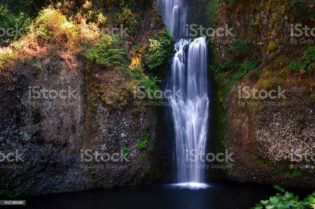Lower Multnomah Falls, Columbia River Gorge, Oregon stock photo