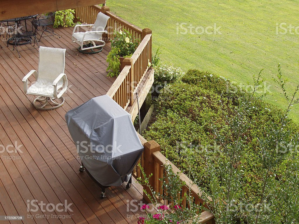 Lower Patio - Real Estate stock photo