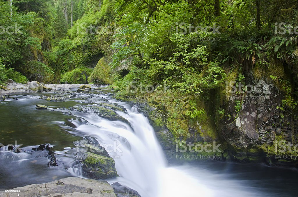 Lower Punchbowl Falls, Columbia River Gorge stock photo