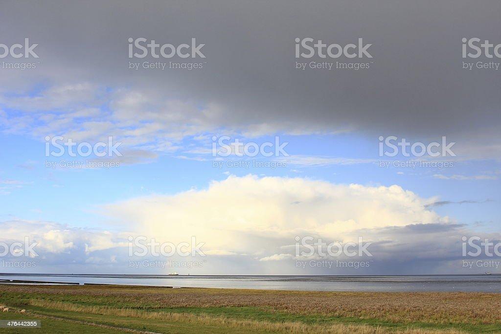 Lower Saxony Wadden Sea, Germany stock photo