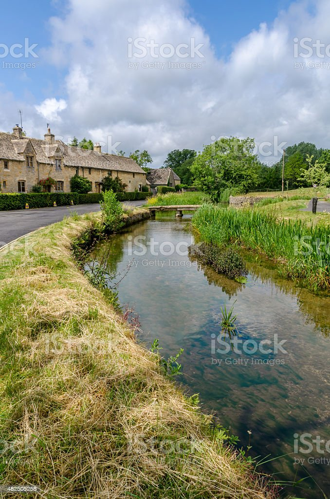 Lower Slaughter, Cotswolds stock photo