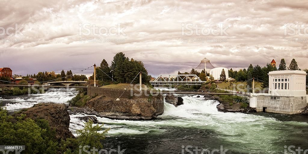 Lower Spokane Falls stock photo