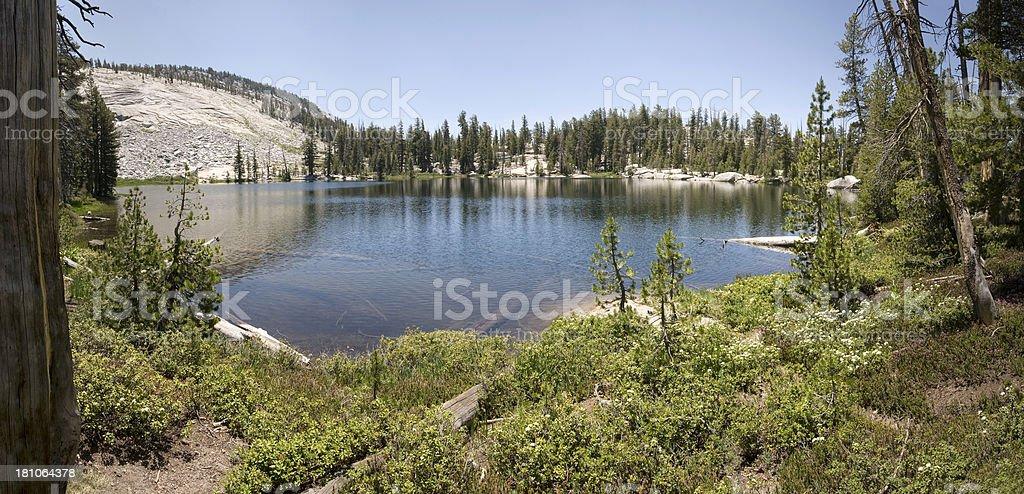 Lower Sunrise Lake, Yosemite stock photo