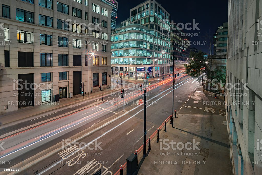 Lower Thames Street in central London stock photo