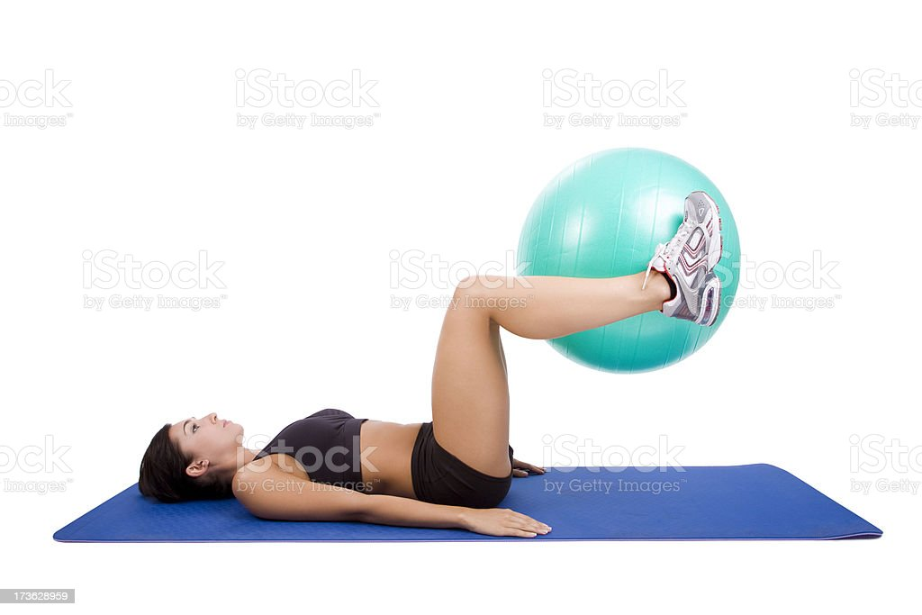 Lower Torso Workout royalty-free stock photo