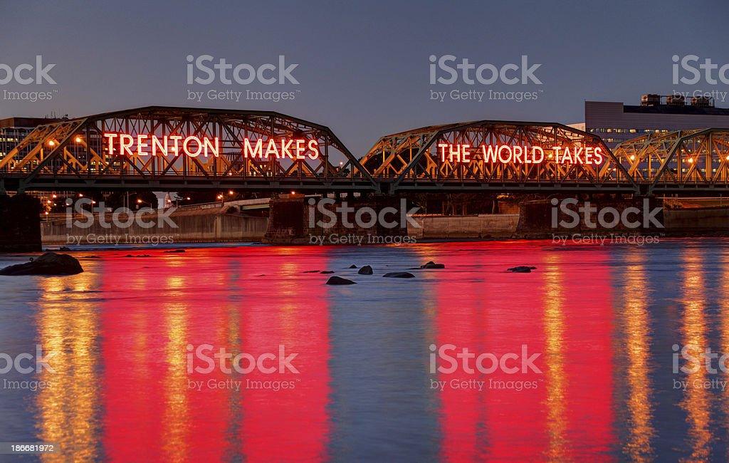 Lower Trenton Bridge stock photo