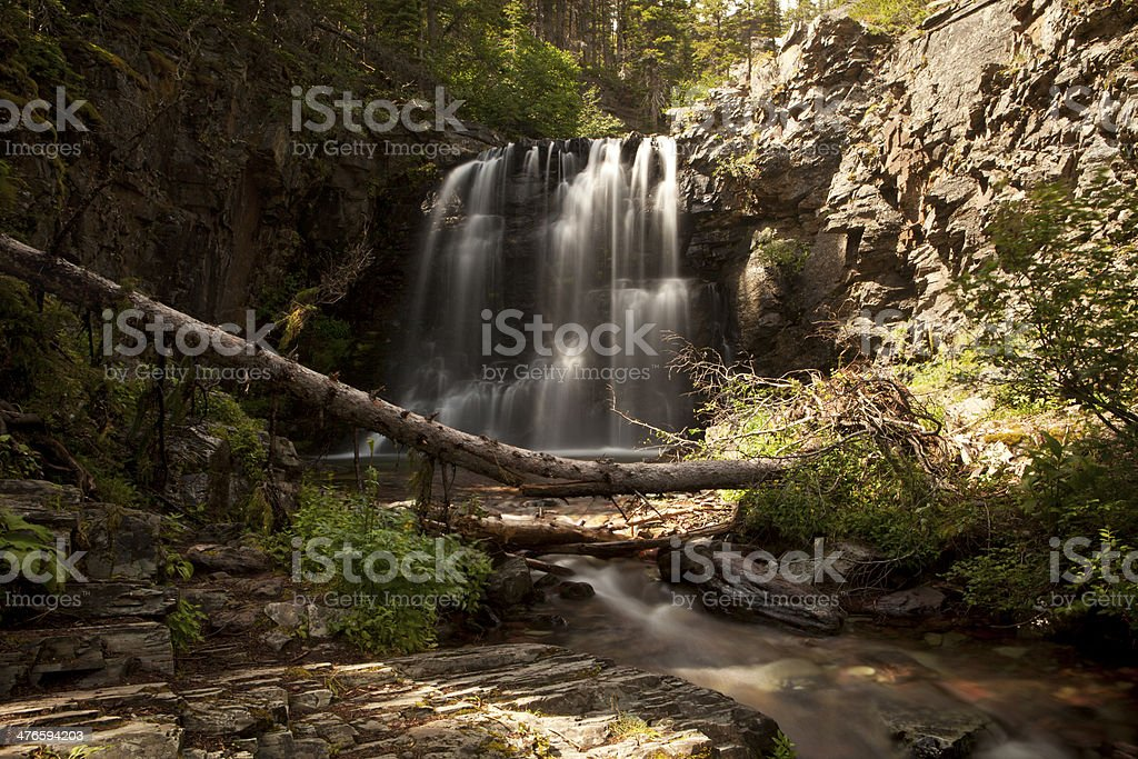 Lower Twin Falls Scenic royalty-free stock photo