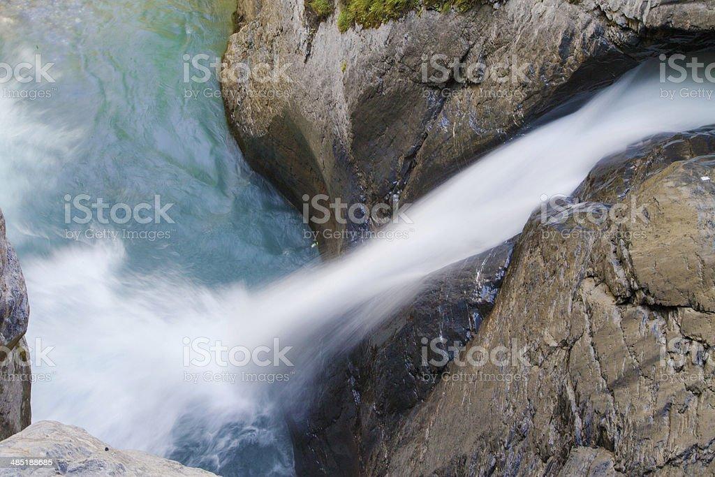 Lower Waterfall of Trummelbach stock photo