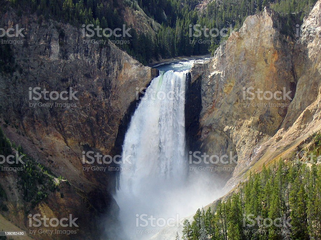 Lower Yellowstone Falls royalty-free stock photo