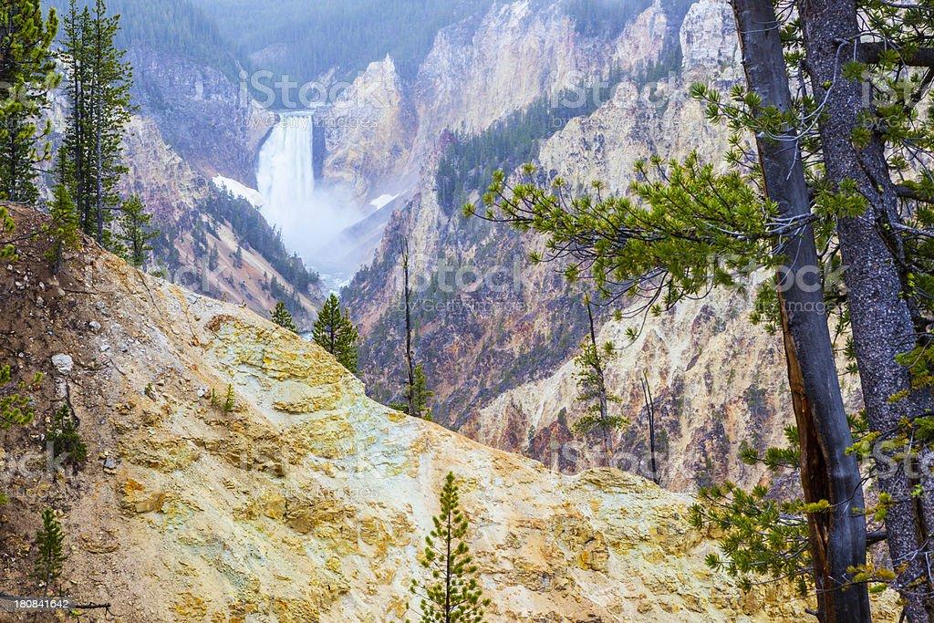 Lower Yellowstone Falls. stock photo