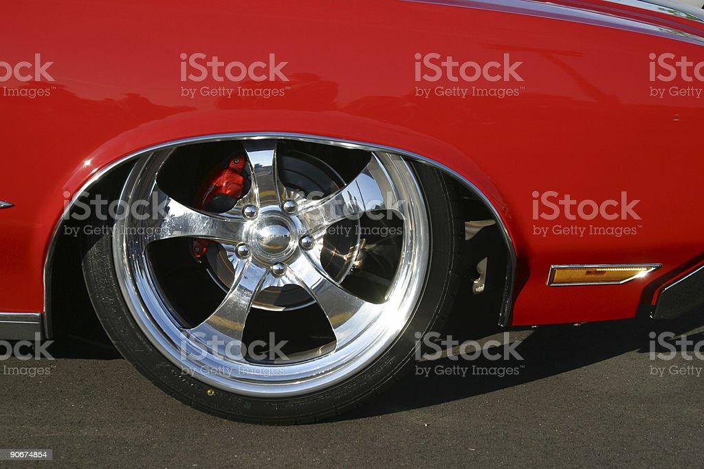 Lowered Oldsmobile Cutlass royalty-free stock photo