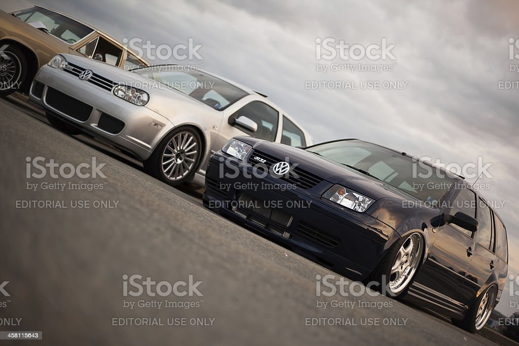 Lowered Volkswagen Cars royalty-free stock photo