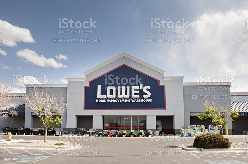 Lowe's Home Improvement Store royalty-free stock photo