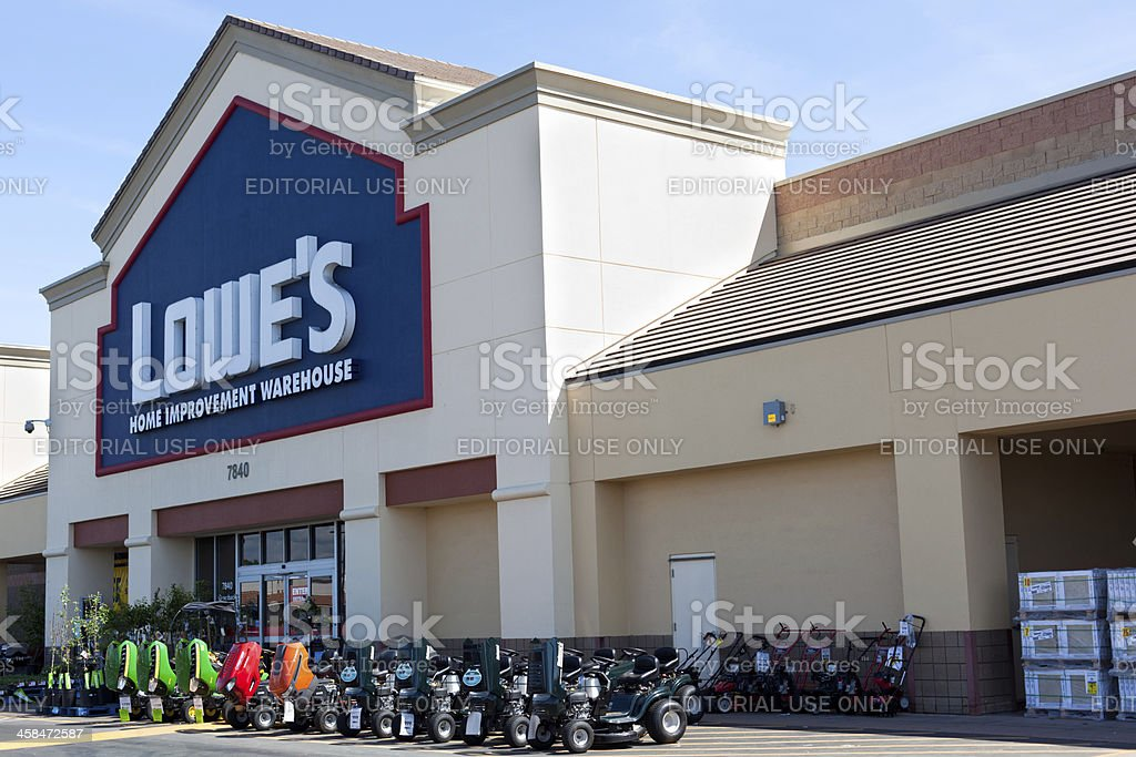 Lowes Home Improvement Warehouse stock photo