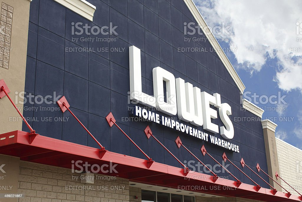 Lowe's Home Improvement Warehouse royalty-free stock photo