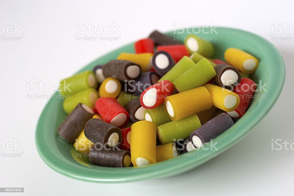 Low-Fat Licorice Pieces royalty-free stock photo